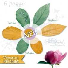 Venatori in silicone Set Peonia small - ITA