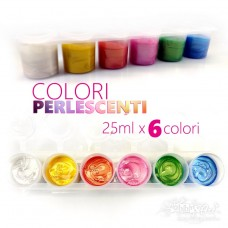 Colori Perlescenti - 6 colori da 25ml