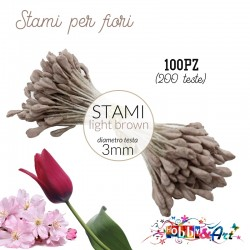 Stami per fiori 3m - Light Brown 100pz (200 teste)