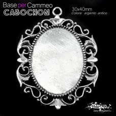 Cabochon 1 - Base per Cammeo 30x40mm