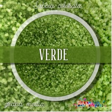 Sabbia colorata media - Verde