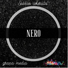 Sabbia colorata media - Nero