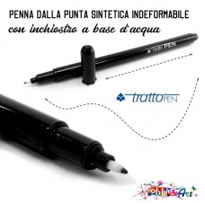 Pennarello nero, marker a punta indeformabile, a base d'acqua 0,5mm