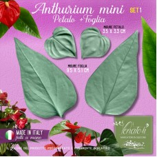 Venatori in silicone Anthurium mini, Petalo e Foglia set 1 - ITA