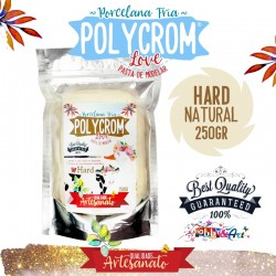 Porcelana Fria POLYCROM HARD 250gr - Natural