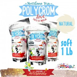 Porcelana Fria POLYCROM SOFT 1Lb - Natural