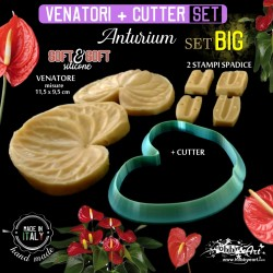 Venatore in silicone ANTHURIUM BIG + cutter - ITA