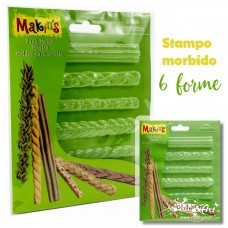 Makin's - Stampo morbido per paste, 6 bordi