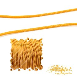 5mt Cordoncino elastico 1mm color arancio