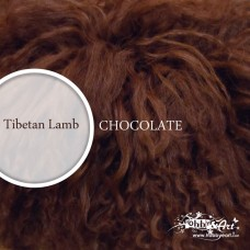 Capelli in lana tibetana - Chocolate Big