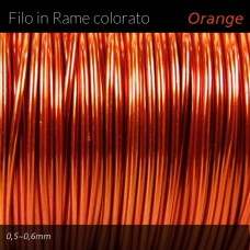 Filo di rame colorato - Orange
