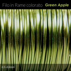 Filo in rame colorato - Green apple