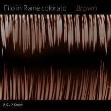Filo in rame colorato - Brown