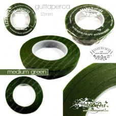 Guttaperca Hamilworth per fiori 13mm x 27mt - Medium Green