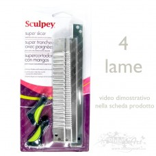Sculpey - Super Slicer, 4 lame + 2 manici
