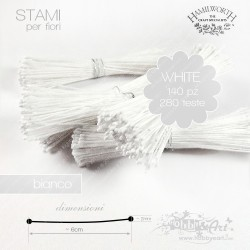 Stami Hamilworth - Bianco 1mm - 140pz
