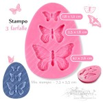 Stampo in silicone - 3 Farfalle