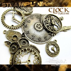 Steampunk CLOCK in metallo - 8pz Vintage