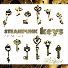 Steampunk Keys in metallo - 6pz Vintage