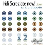 Iridi 2mm - 12x2 Screziate