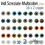 Iridi 2mm - 16x2 Screziate Multicolori