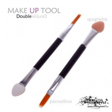 Make-up Tool Double, spugnetta + pennellino