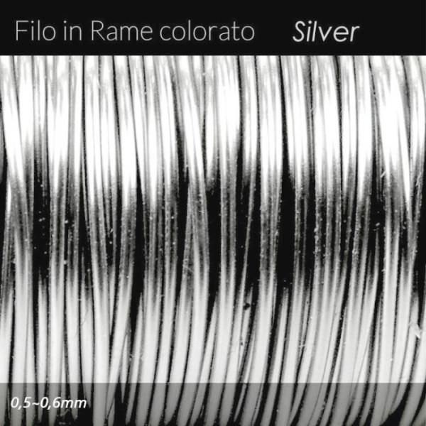 Filo di rame colorato - Argento