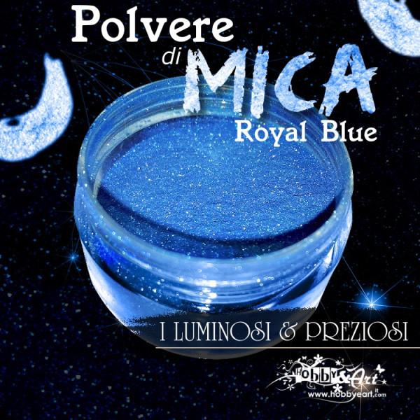 Pigmento in Polvere di Mica - ROYAL BLUE