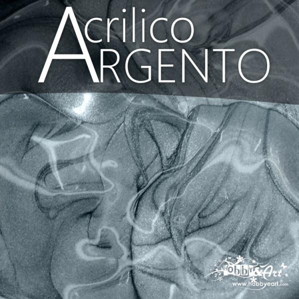 Colore acrilico Argento metallizzato