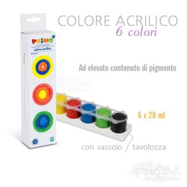 Colori Acrilici alta pigmentazione - 6 colori da 25ml