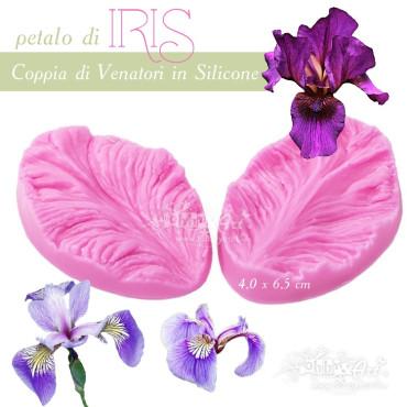 Venatore in silicone petalo IRIS - 7.0 x 4.5 cm