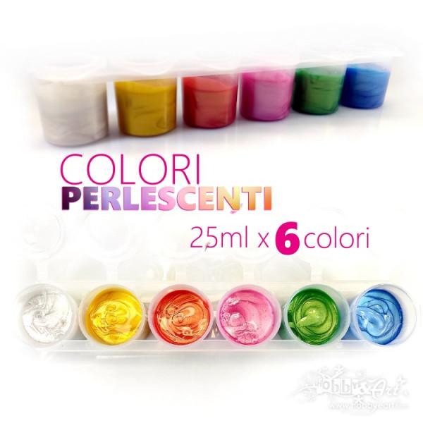 Colori Perlescenti - 6 colori da 25ml