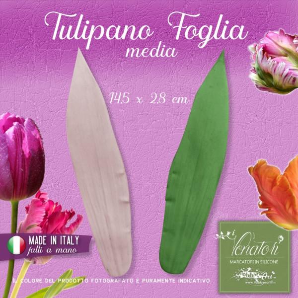 Venatore in silicone Tulipano foglia media 14,5 x 2,8 cm