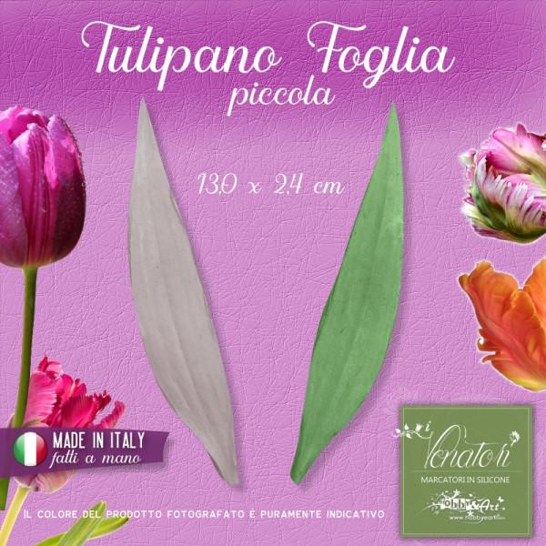 Venatore in silicone Tulipano foglia piccola 13,0 x 2,4 cm