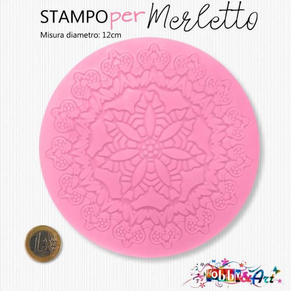 Stampo in silicone morbido merletto circolare 12 cm