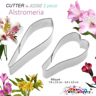 Cutter in metallo Alstroemeria - 2 pezzi