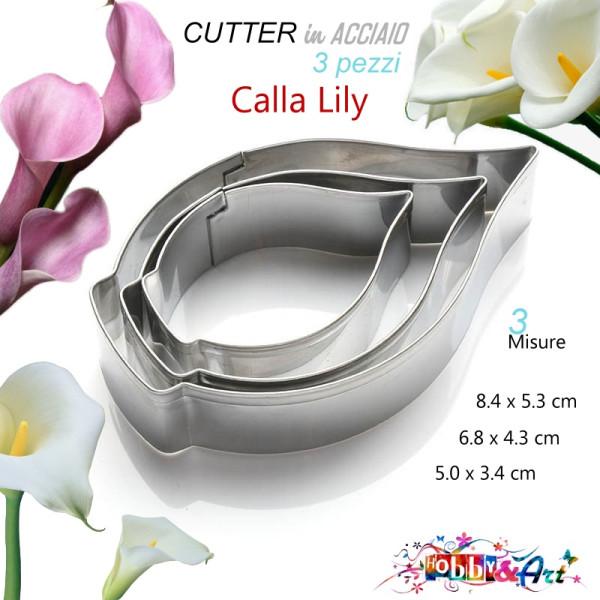 Cutter in metallo Calla Lily - 3 pezzi