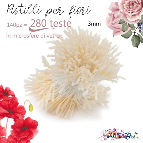 Stami lunghi per fiori colore Avorio - 140pz (280 teste)