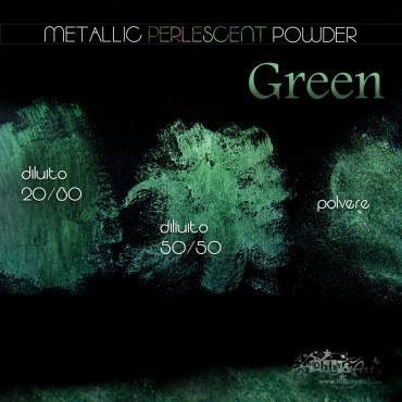 Metallic Perlescent Powder - Green