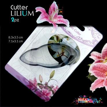 Cutter in metallo petali di Giglio (Lilium) - 2 pezzi