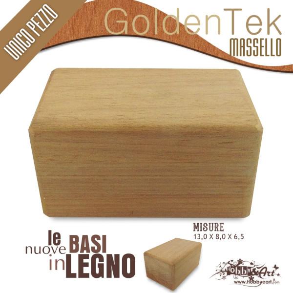 Base in legno massello Golden Teak