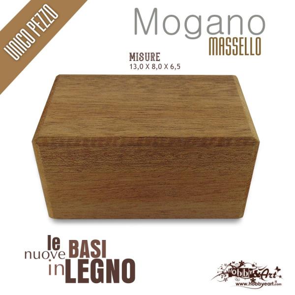 Base in legno massello Mogano