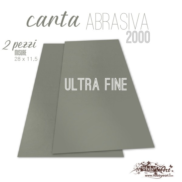 Carta abrasiva Ultra-Fine 2000 - 2 pezzi