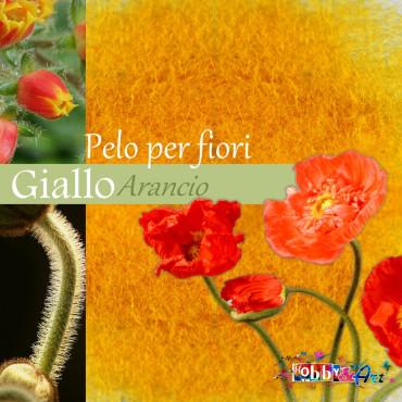 Pelo per fiori e decorazioni - Giallo arancio