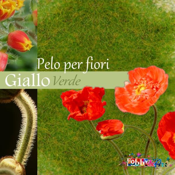 Pelo per fiori e decorazioni - Giallo Verde