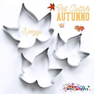 Cutter in metallo foglie autunnali - 3 pezzi