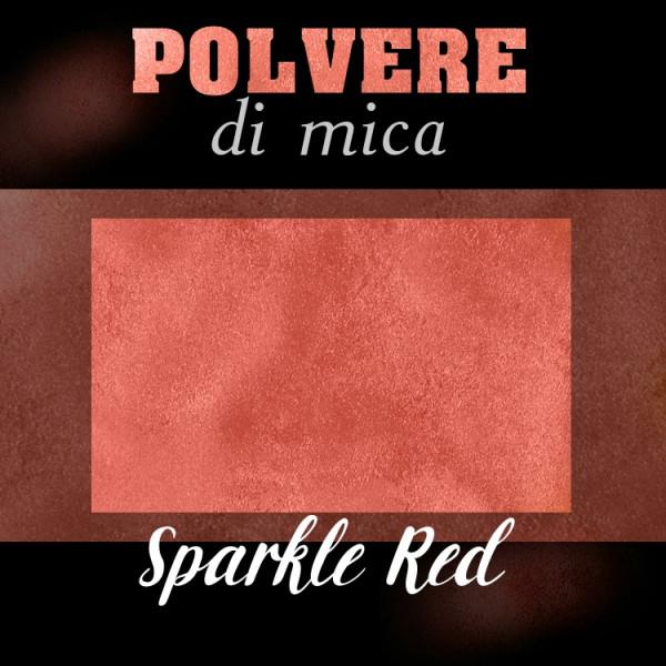 Pigmento in Polvere di Mica - SPARKLE RED