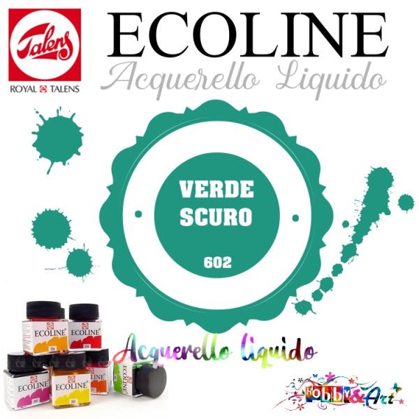 Ecoline Acquerello liquido - Verde Scuro 3ml