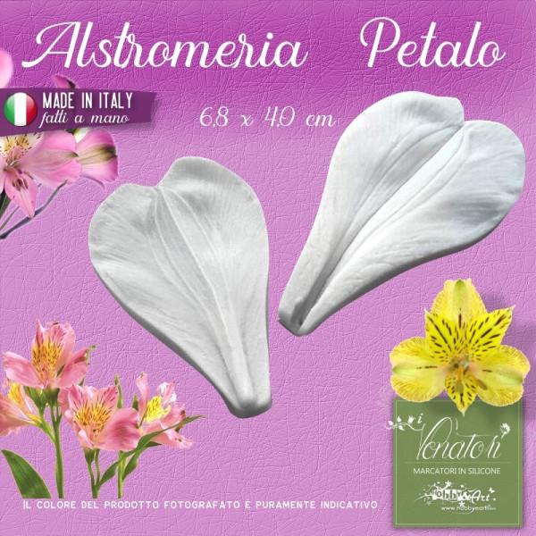 Venatore in silicone Alstroemeria - Petalo 6,8 x 4,0 cm ITA