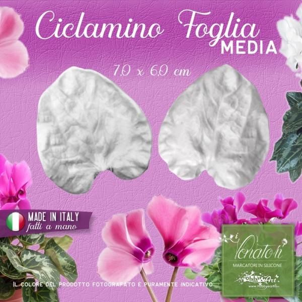 Venatore in silicone Ciclamino - Foglia media 7,0 x 6,0 cm ITA